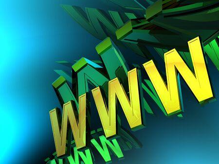 3d World Wide Web internet symbol Stock Photo - 4530122