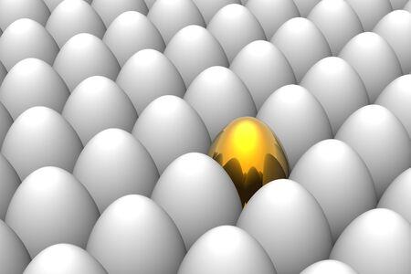 Unique golden easter egg Stock Photo - 4616286