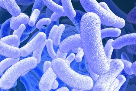 bacillus: illustration of the bacillus microorganisms Stock Photo