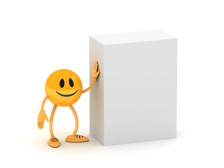 Blank box with golden business man Stock Photo - 4691266