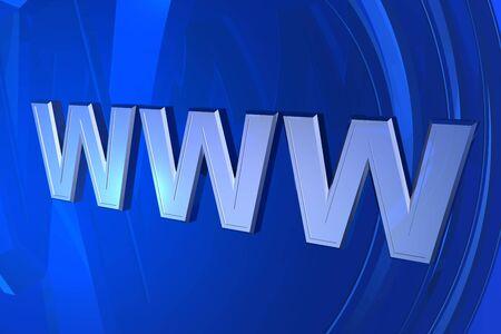 3d World Wide Web internet symbol Stock Photo - 4691257