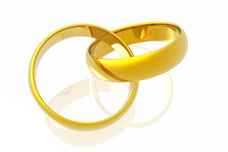 Rings in white background photo