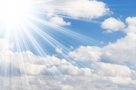 sunny sky background Stock Photo - 4768147