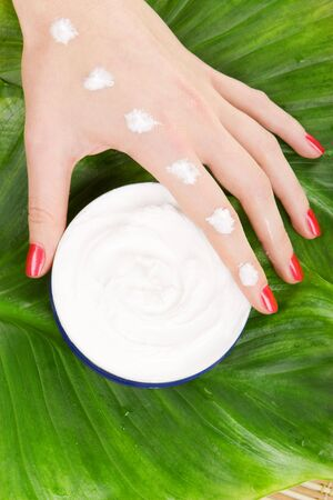 care for beautiful woman hands photo