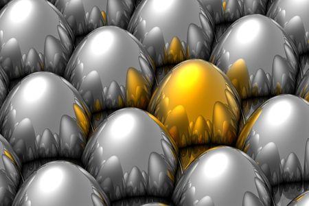 Unique golden egg Stock Photo - 5518561