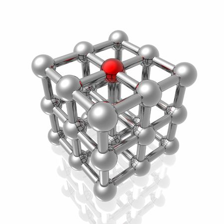 Render of molecular structure photo