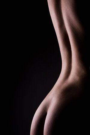 classic low key photo of sexy woman body  Stock Photo - 5613501