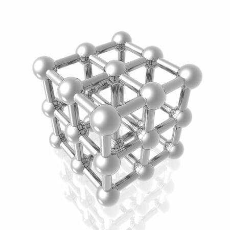 Render of molecule Stock Photo - 5613512
