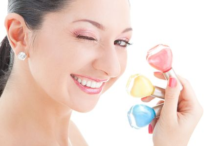 Elegant woman with colored polishes Stock Photo - 5635638