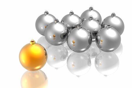 Unique golden christmas decoration on the white background Stock Photo - 5644099