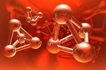 Render of molecule  Stock Photo - 5743440