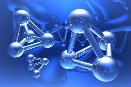 Render of molecule  photo