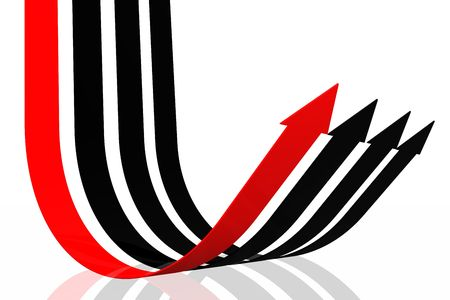 factor: Success arrow isolated in the white background