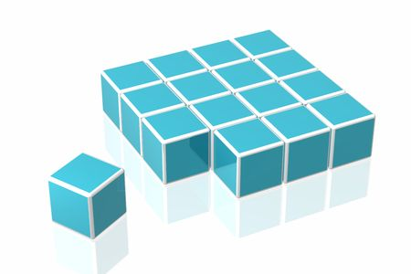 many cubes   photo