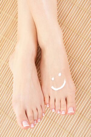 care for beautiful woman legs photo