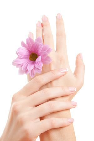care for beautiful woman hands Stock Photo - 6250067