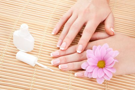 care for beautiful woman hands Stock Photo - 6250114
