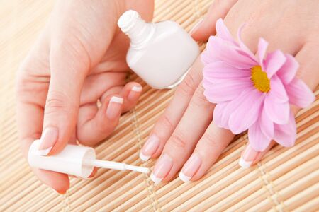 care for beautiful woman nails photo