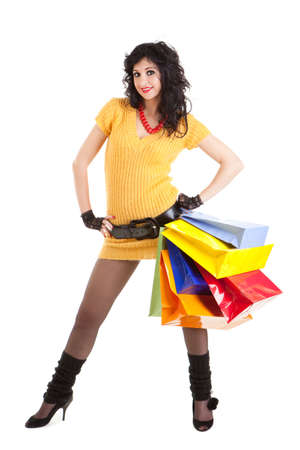 Fashion woman with color packages  photo