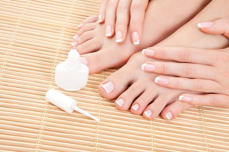 care for sensuality woman nails Stock Photo - 6491044