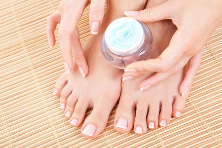 care for beautiful woman skin Stock Photo - 6701736