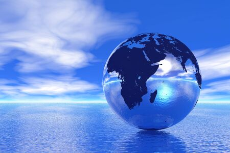 Globo en el Océano