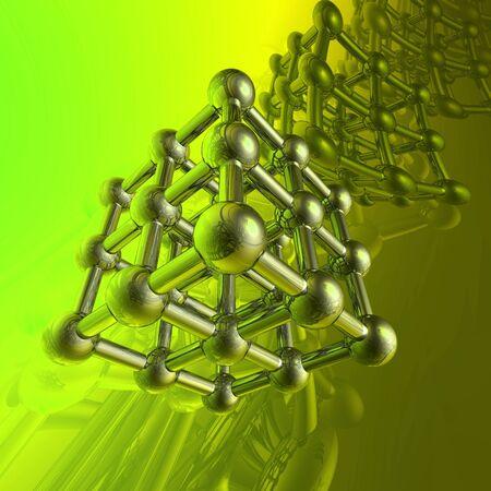 scientific experiment: Render of molecule