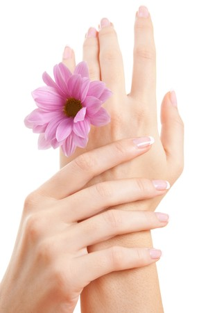 care for sensuality woman hands Stock Photo - 7521009