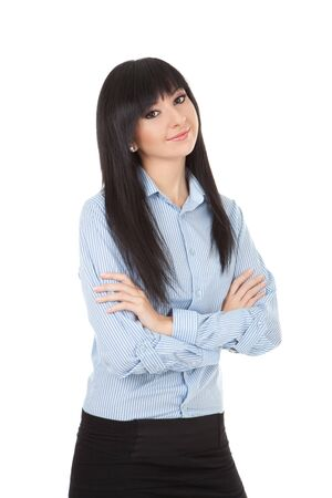 Young business woman isolated on the white background Stock Photo - 11742463