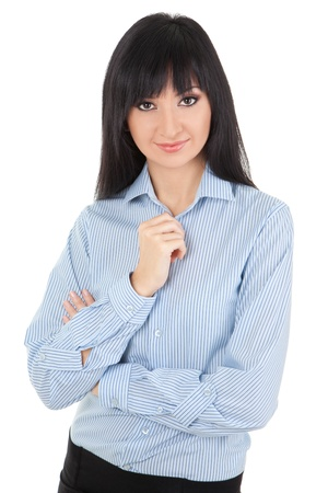 Young business woman isolated on the white background Stock Photo - 13396440