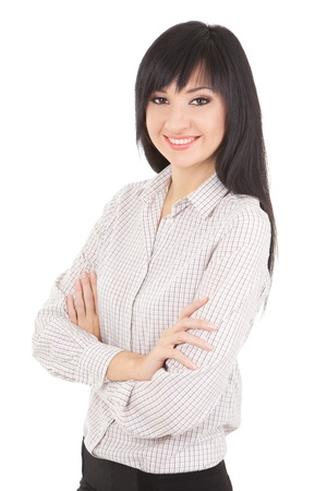 Young business woman isolated on the white background Stock Photo - 13396423