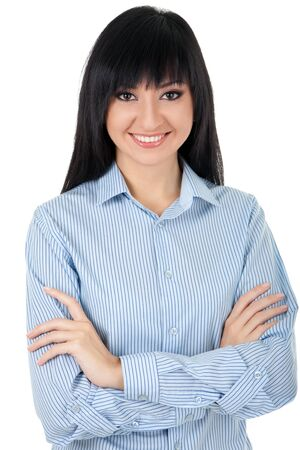 Young business woman isolated on the white background photo