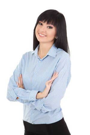 Young business woman isolated on the white background Stock Photo - 15530037
