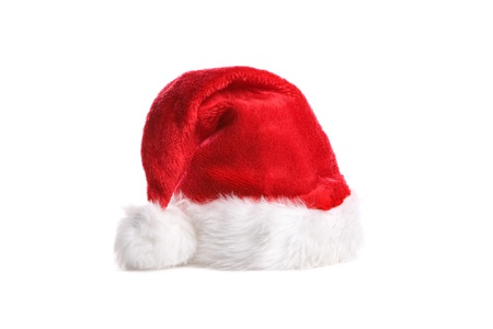 cloth cap: Santa hat isolated in white background Stock Photo