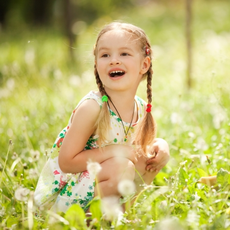 pollens: Cute little girl in the park