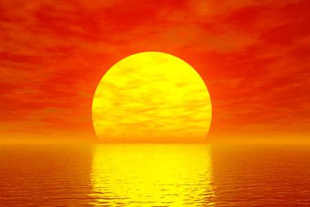 sundown: Golden sunset Stock Photo