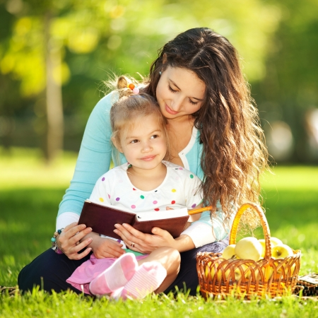 Mother with daughter in the park Stock Photo