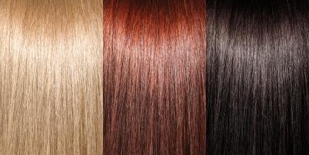 Beispiel für unterschiedliche Haarfarben Standard-Bild - 16880253