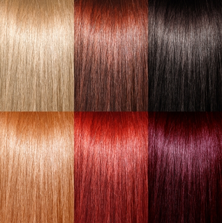 hair shampoo: Example of different hair colors