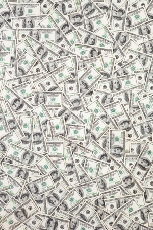 money pile: money background Stock Photo