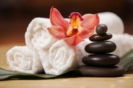 oriental massage: Spa background Stock Photo