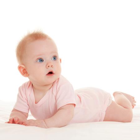 Cute Baby mit schönen blauen Augen auf den weißen Hintergrund Standard-Bild - 22618517