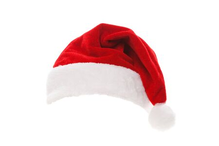Santa hat isolated in white background Stock Photo