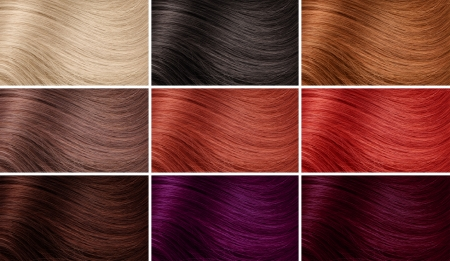 shampoo hair: Example of different hair colors