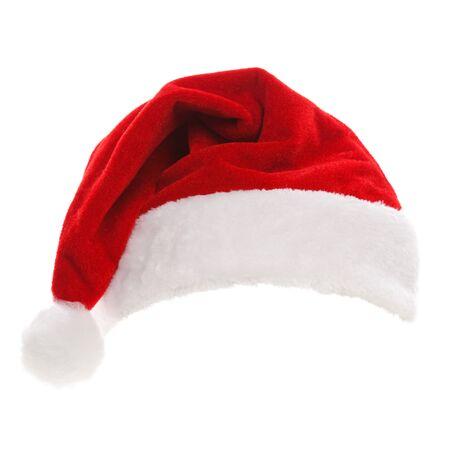 santa cap: Santa hat isolated in white background Stock Photo