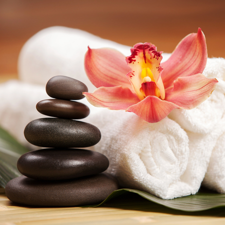 spa therapy: Spa background Stock Photo