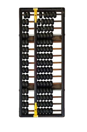 Chinese abacus with antique Chinese coins photo