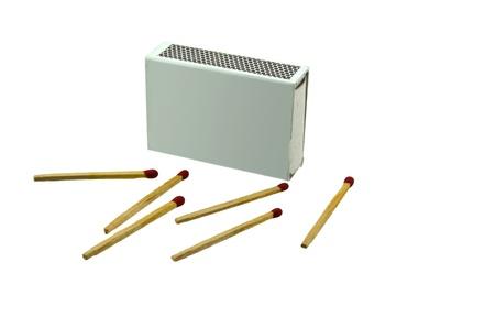 pyromaniac: matches isolated on white background