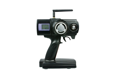 Radio controlled (RC) transmitter for model cars Stock Photo