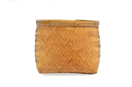 Basket hand crafts isolated on white background Stock Photo